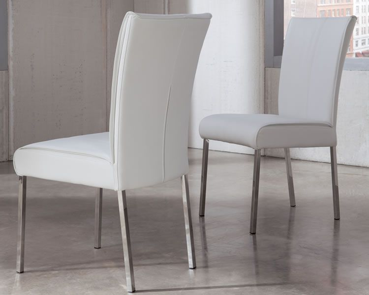 Modern Padded Dining Chair Furniture Chicago White Dining Chairs