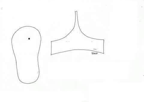 Sandalinha de feltro molde