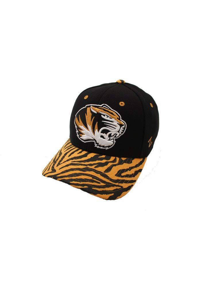 1a40deb6535 Missouri (Mizzou) Tigers Black Tiger Stripe Predator Flex Hat http   www