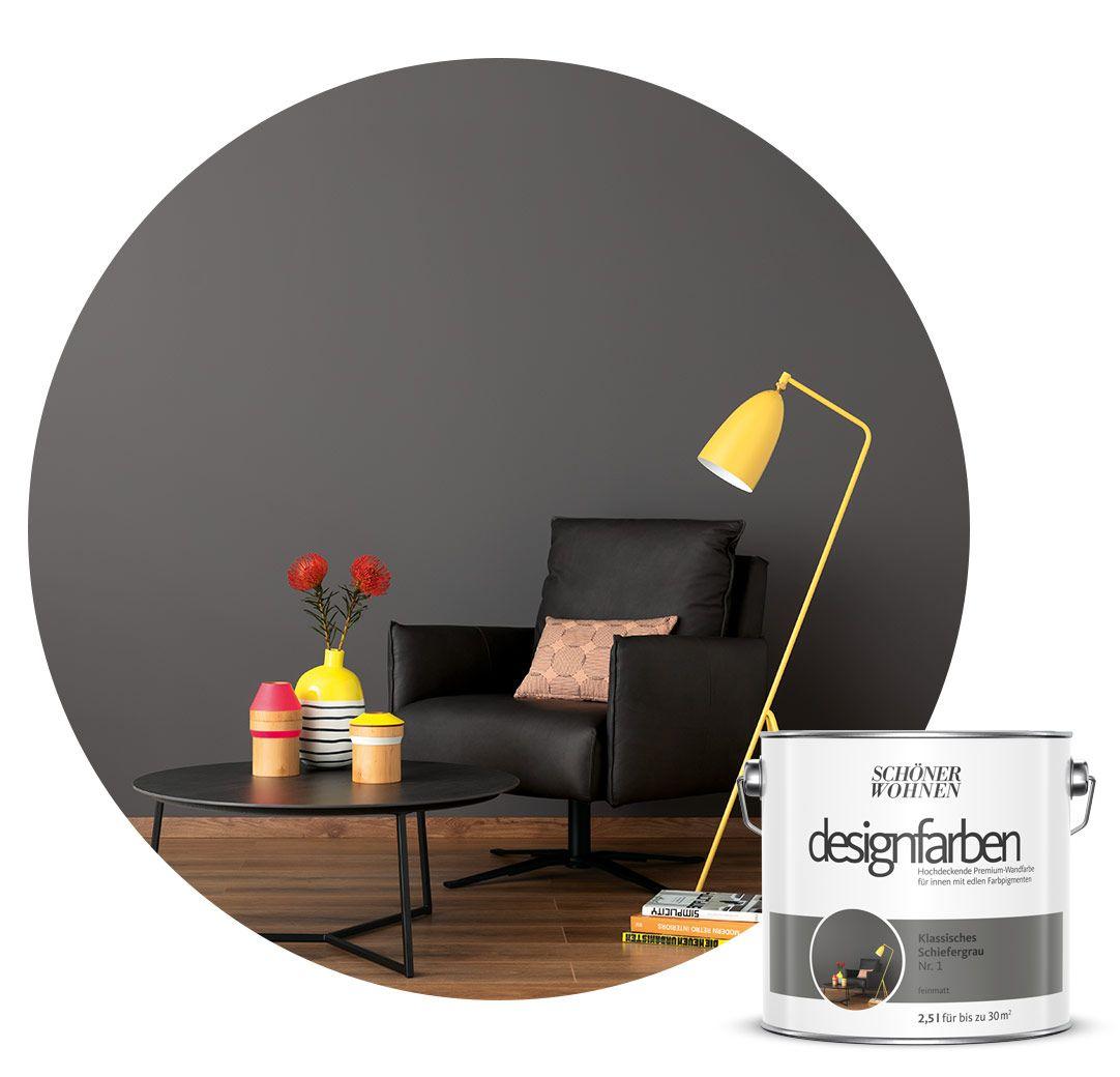 Schoner Wohnen Kollektion Designfarbe Schiefergrau In 2020 Schoner Wohnen Farbe Schoner Wohnen Wandfarbe Schoner Wohnen