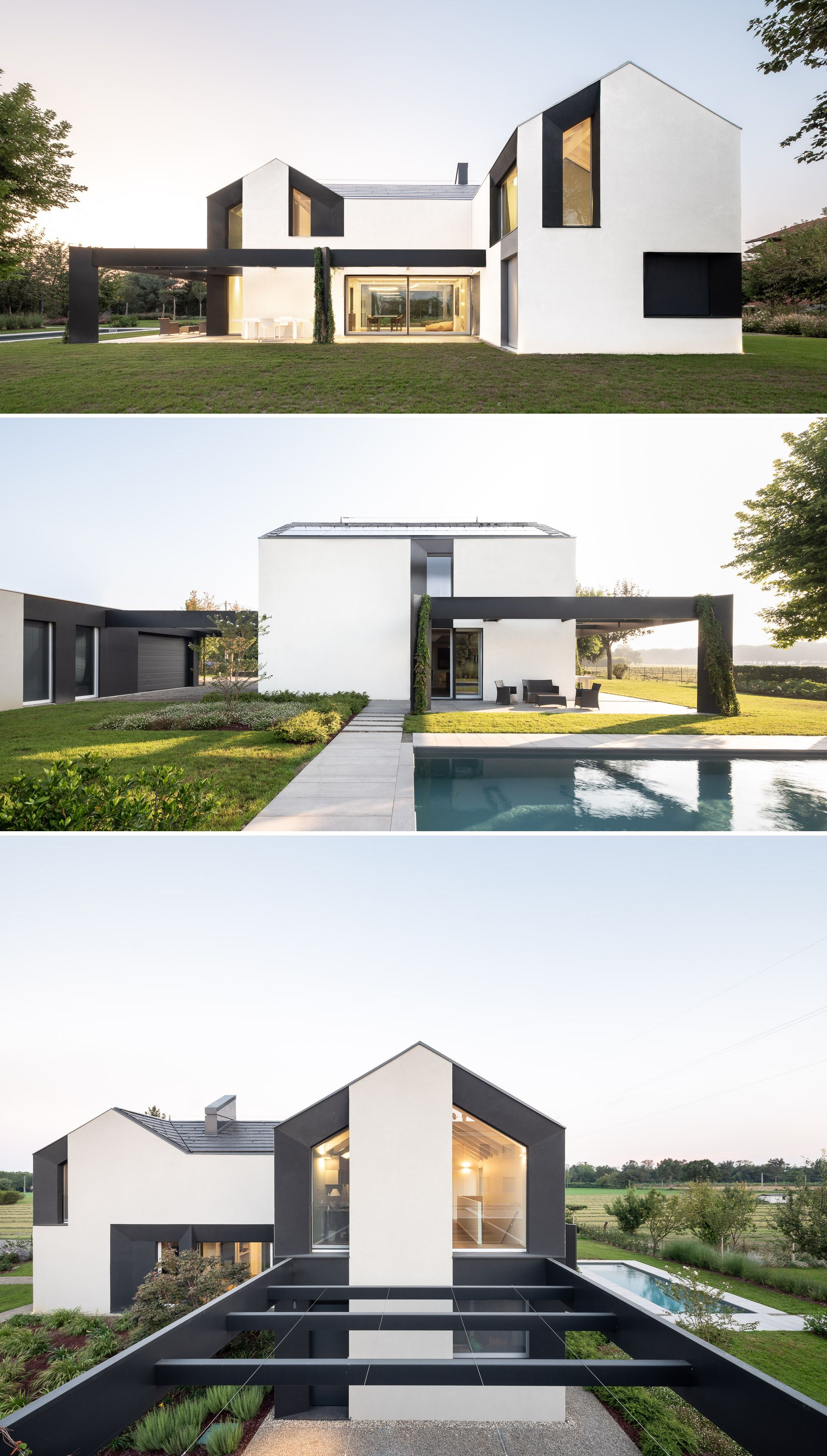 Hhcr House In Corticella By Studio Natoffice Modern Style House Plans Modern Contemporary Homes Contemporary House