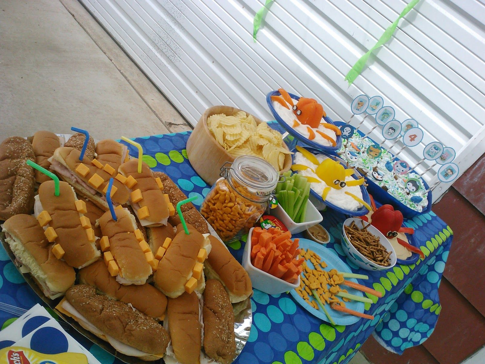 Great Octonauts party food ideas LOVE the octopus dip idea with the