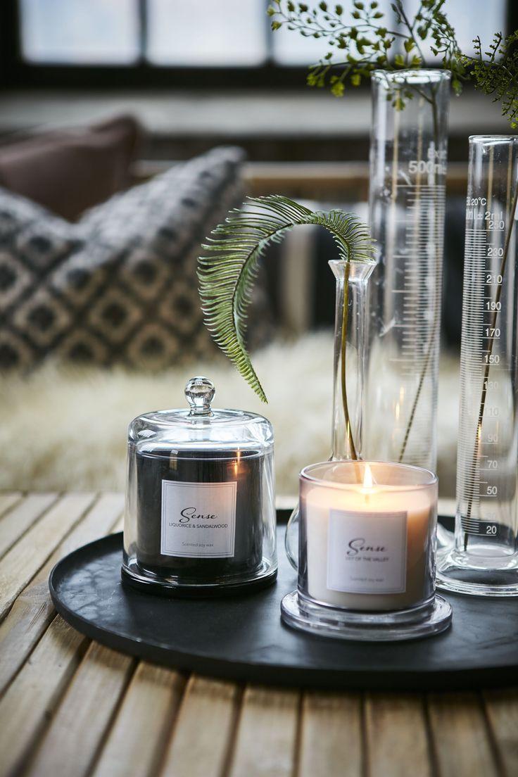 Tablett Dekorieren Mit Duftkerzen Kerzen Kerze