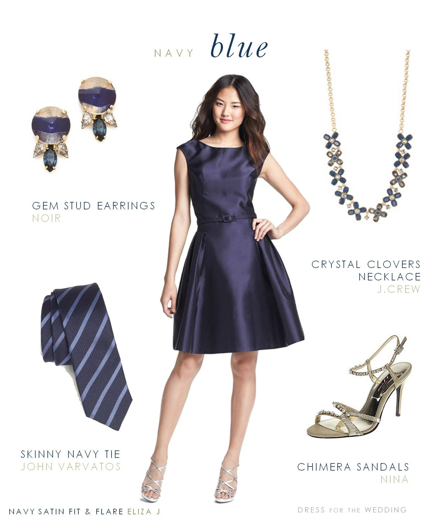 Black dress yellow accessories - How To Accessories A Navy Lace Dress