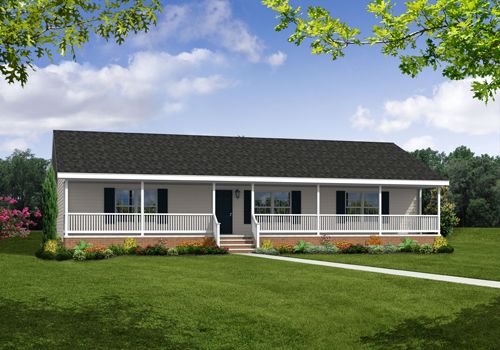 The ranch style sycamore floorplan features 3 bedrooms 2 for Ideas for covered back porch on single story ranch