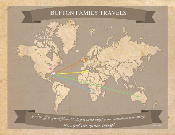 World Travel Map Printable Editable World Travel Map Instant