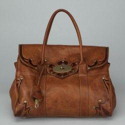 MULBERRY Brown Leather Bayswater Shoulder Handbag AC708