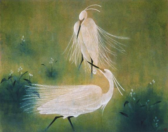 白鷺の四季 (春・夏)  /  91 × 72.7cm