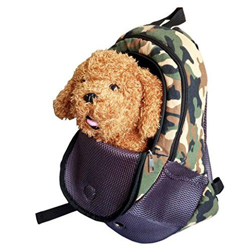 qqqshoulder pet pack cat dog go out chest backpack dog pack portable pet backpack army green