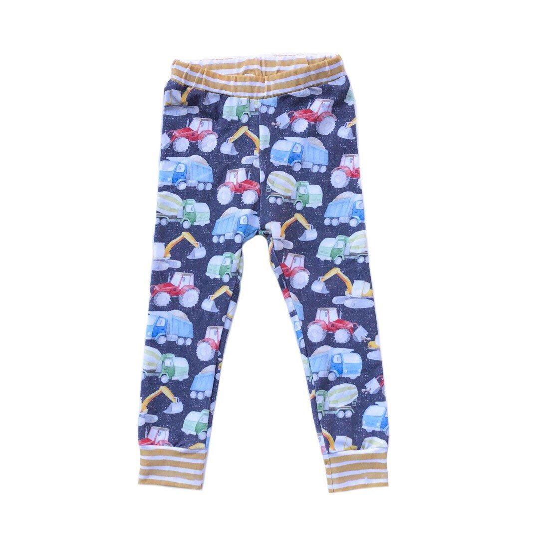 Construction Crew Shorties or Leggings or Harem - kid shorts - Toddler shorts - Girl shorties - unisex - dump trucks #toddlershorts