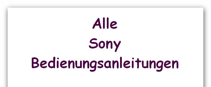 Sony Smartphones Benutzerhandbücher