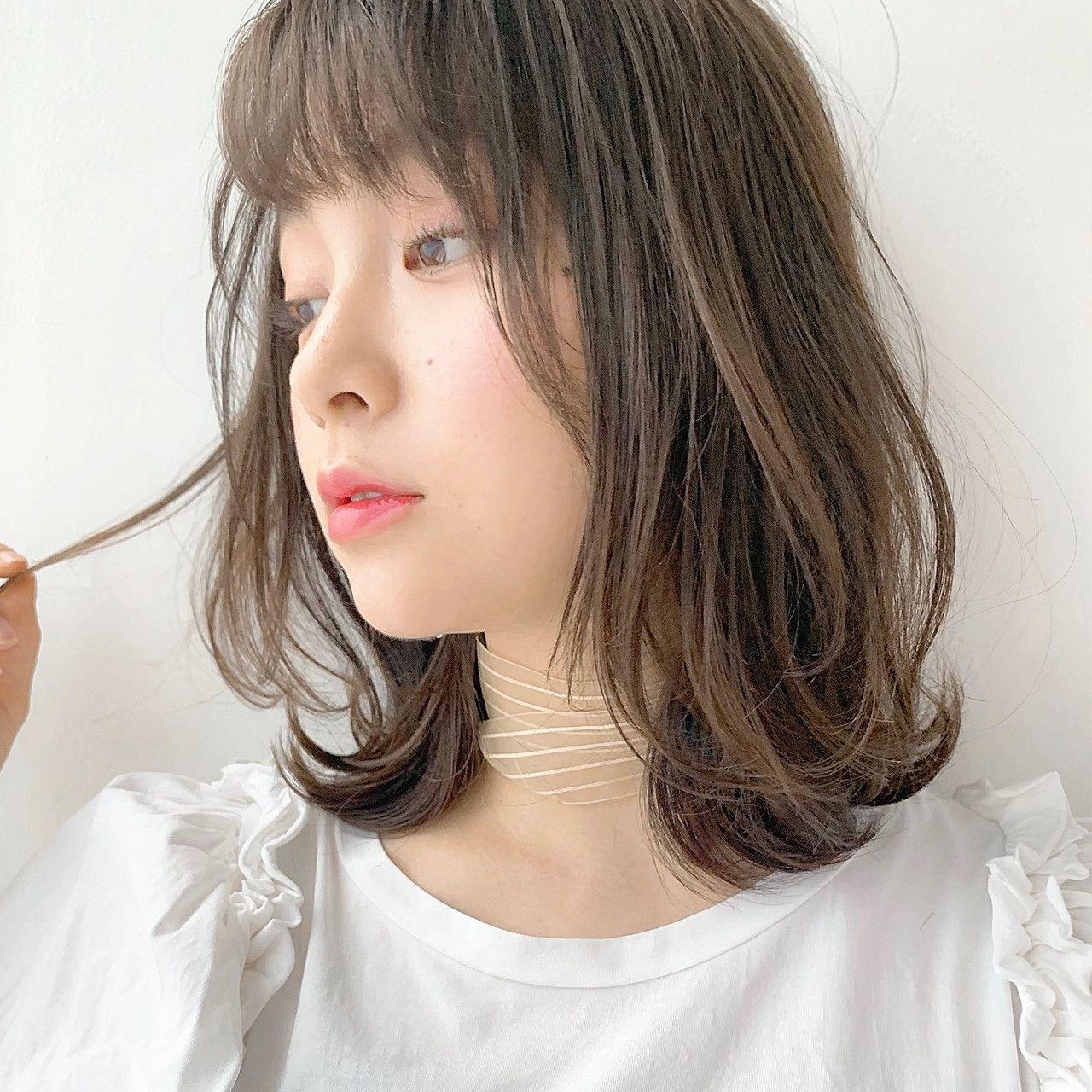 レイヤーカット ワンカール 透明感カラー ミディアム ヘアスタイルや髪型の写真 画像 美髪 ヘアスタイル ロング セミディ