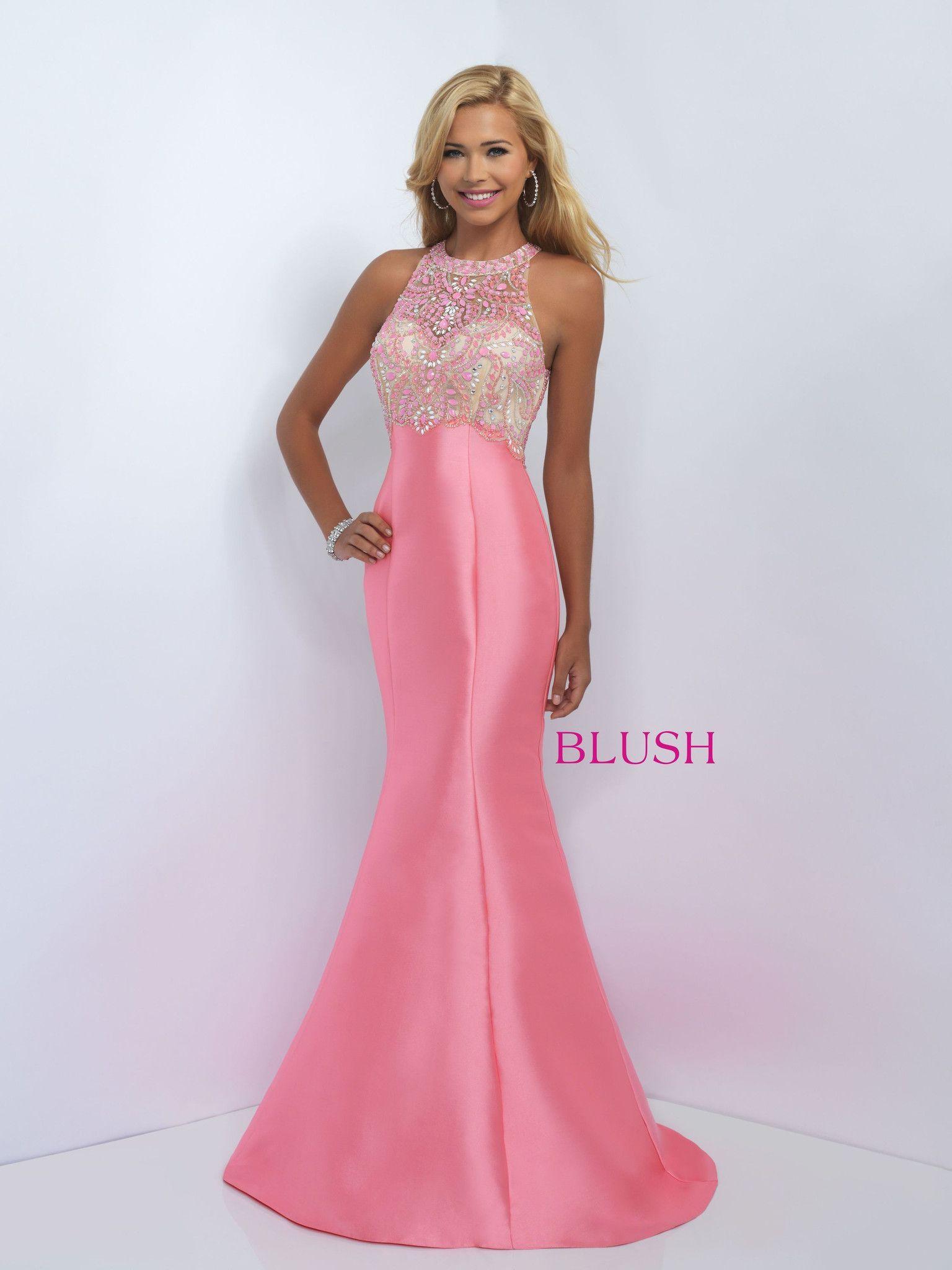 Blush prom coral pink prom dresses pinterest prom