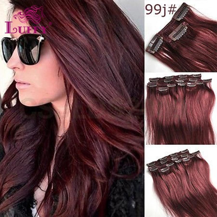 Luffy Hair 10 24 Inch 70g7pcs Straight Remy Clips In Virgin Human