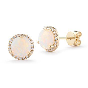 5764cf875 Costco: Opal and Diamond $599   Jazzy Jewelry   Diamond earrings ...