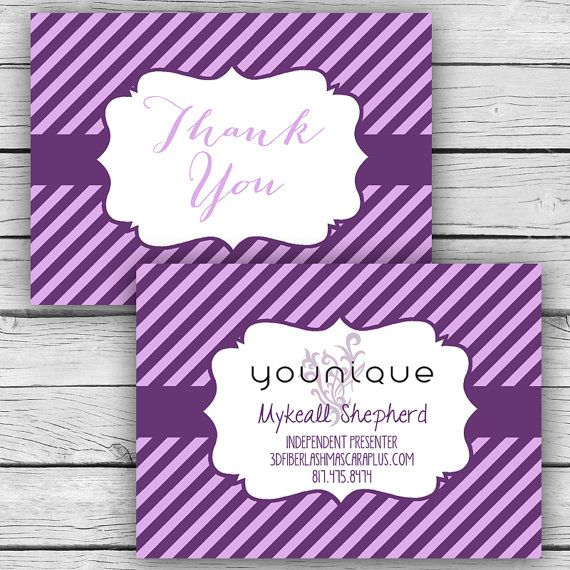 YOUNIQUE THANK YOU Note Card Set