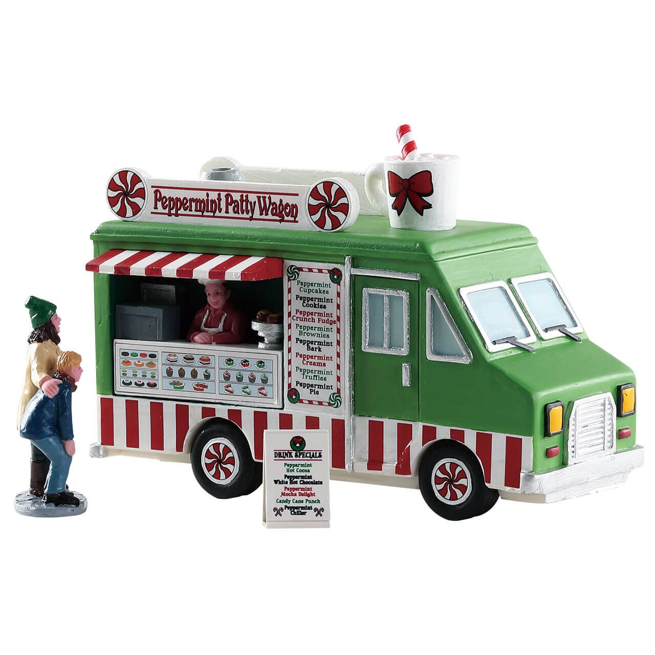 Lemax Christmas Village Michaels.Lemax Peppermint Food Truck Sku 83364 Released In 2018 As