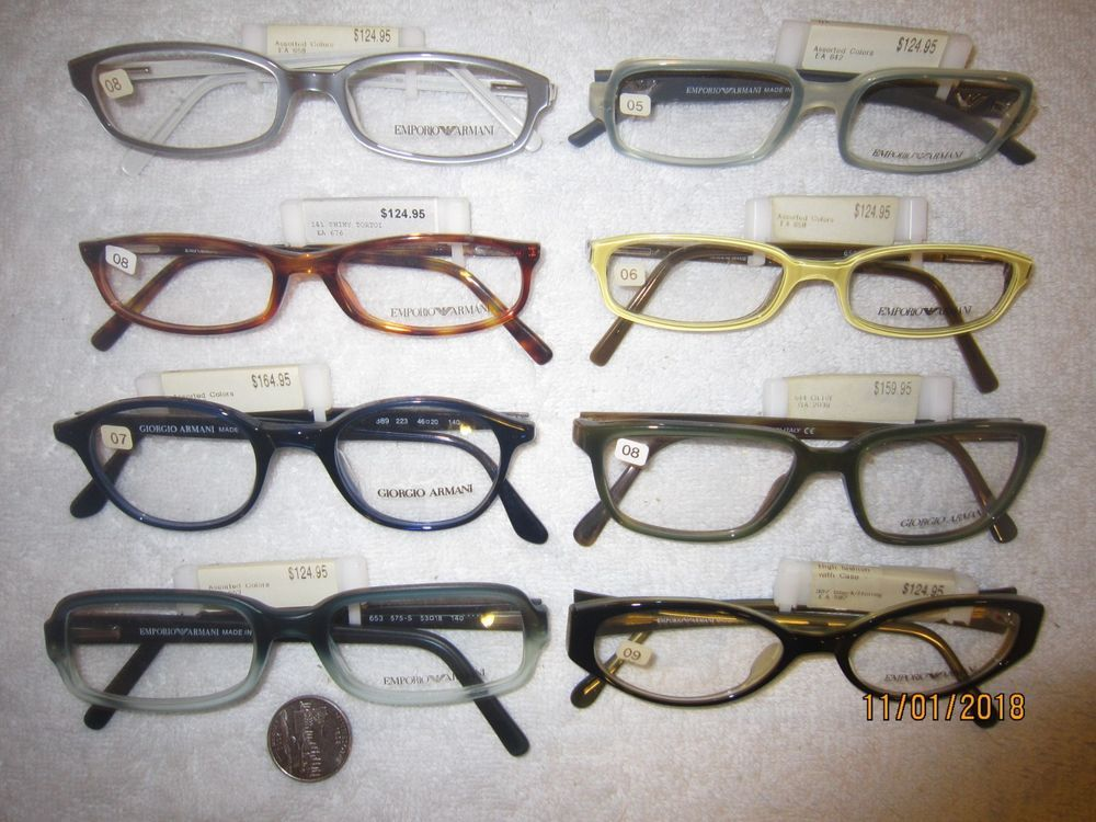 bdd677c8f21e0 8 GIORGIO EMPORIO ARMANI Plastic Frames Demos PRICE TAGS men BIG women  DEADSTOCK