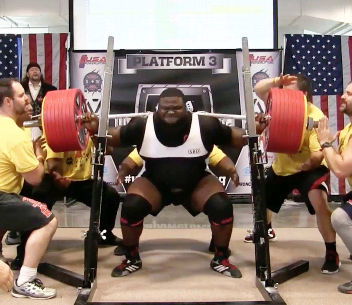 Ray Williams Sets Powerlifting World Record With 1 005 Pound Raw Squat Bodybuilding Motivation Powerlifting Bodybuilding