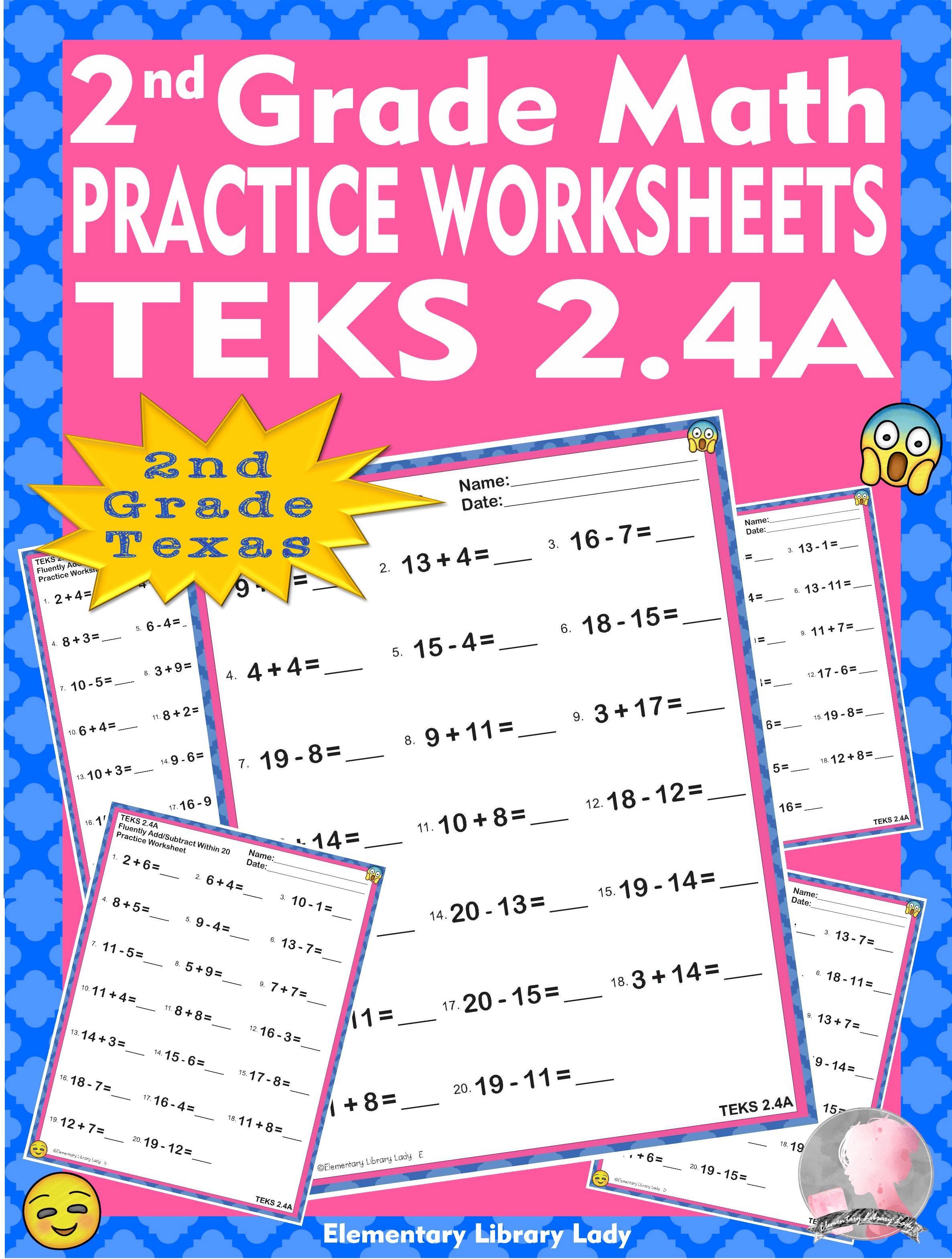 Math Teks 2 4a Texas 2nd Grade Practice Worksheets Add