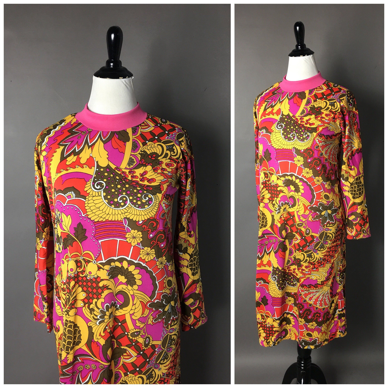 Vintage 70s Dress 1970s Dress Psychedelic Dress Volup Etsy Vintage Dress 70s 70s Dress Plus Size Dress [ 3000 x 3000 Pixel ]