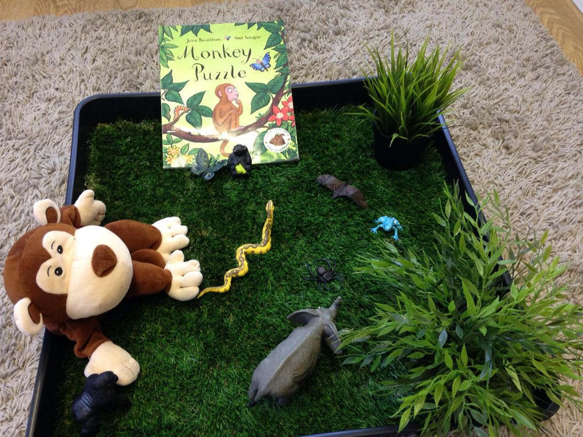 Monkey Puzzle and story props