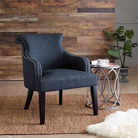 Madison Park Alexis Rollback Accent Chair Blue 2825w X