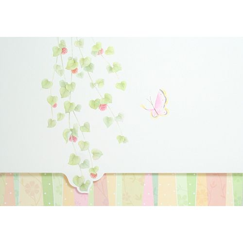 Tri-Fold Card with Butterfly and Diecut Vine