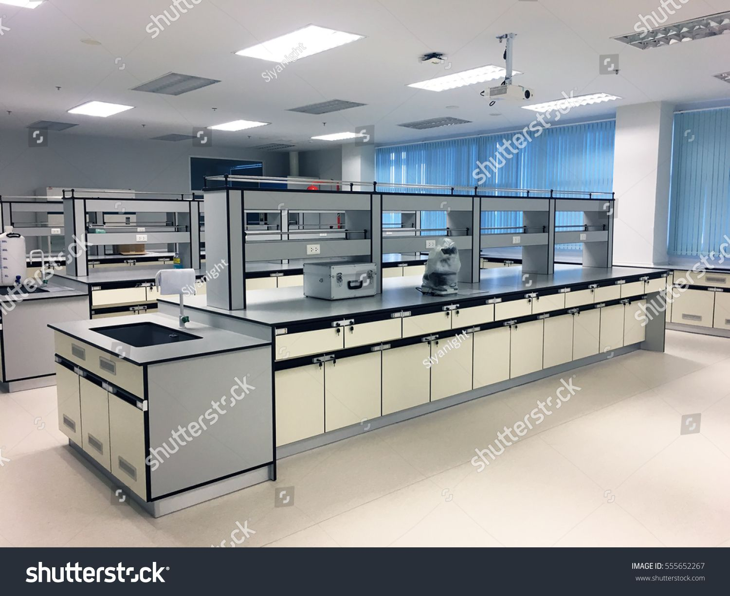 Laboratory Chemical In Science Classroom Interior Of University