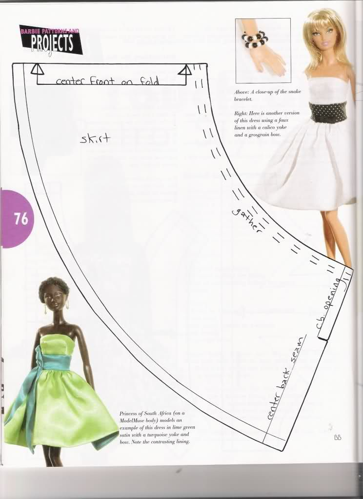 Has complete pattern, free | 1:6 Sewing Clothes | Pinterest | Barbie ...