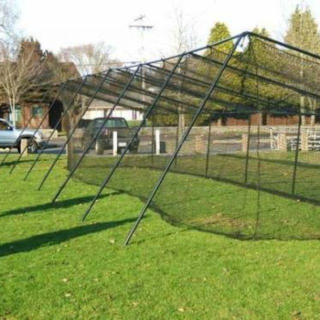 How to Build Backyard Batting Cages | Batting cage ...