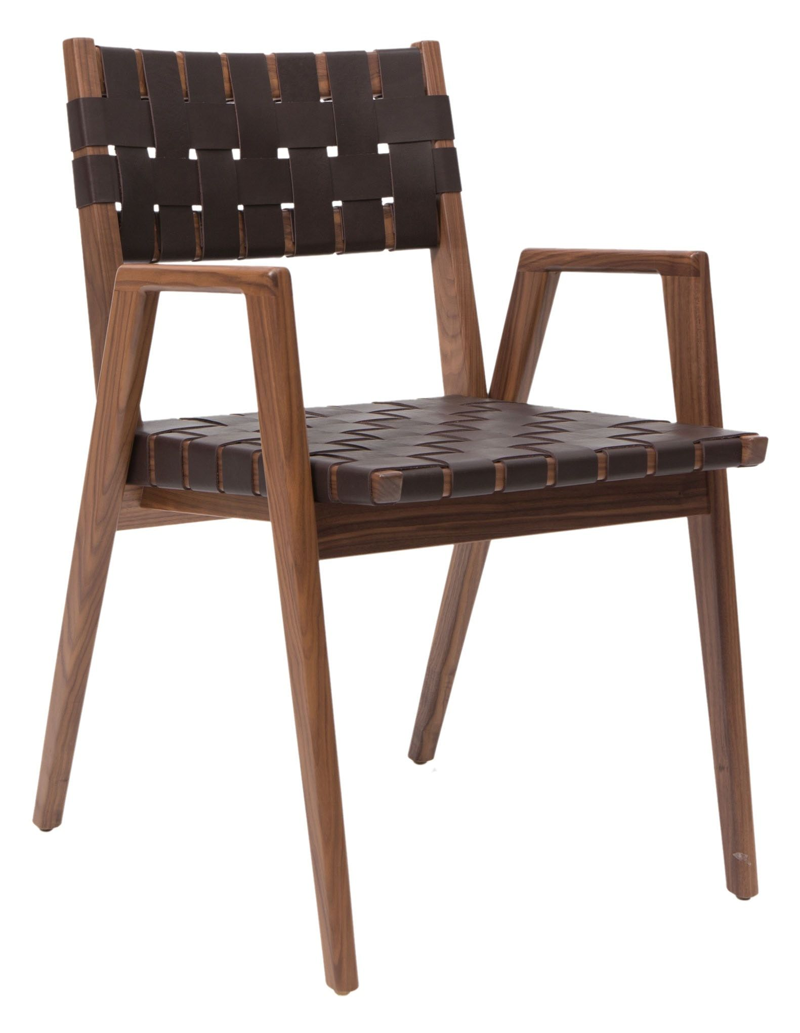 Buy woven leather dining arm chair wdc by smilow design made
