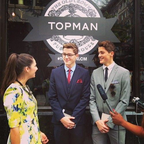 Harries twins showing new collection at TopShop | Jack ...