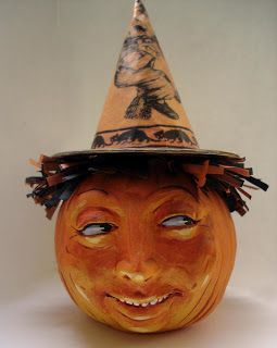 William Bezek the Artist: September 2009 - Paperclay Pumpkin Box