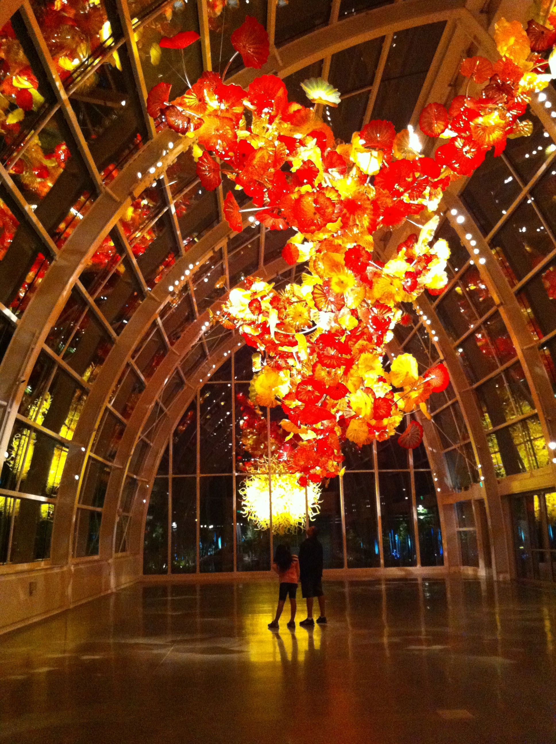 Chihuly Glass Gardens just below the Space Needle ~ Seattle, WA ...