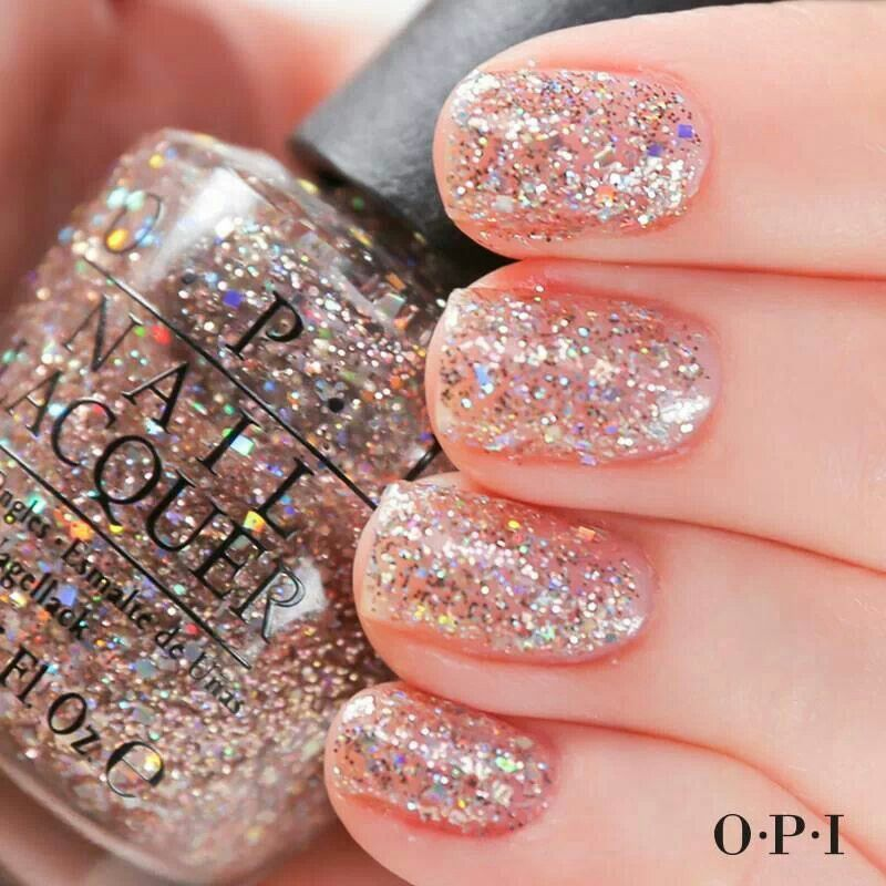 Pin By Lori Hackney On Nails Gold Sparkle Nails Pink Glitter