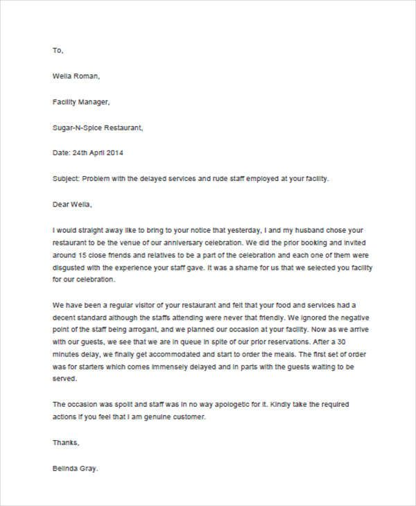 Sample complaint letter format formal complaint letter templates claim letter format comments response complaint letters pdf free thecheapjerseys Choice Image