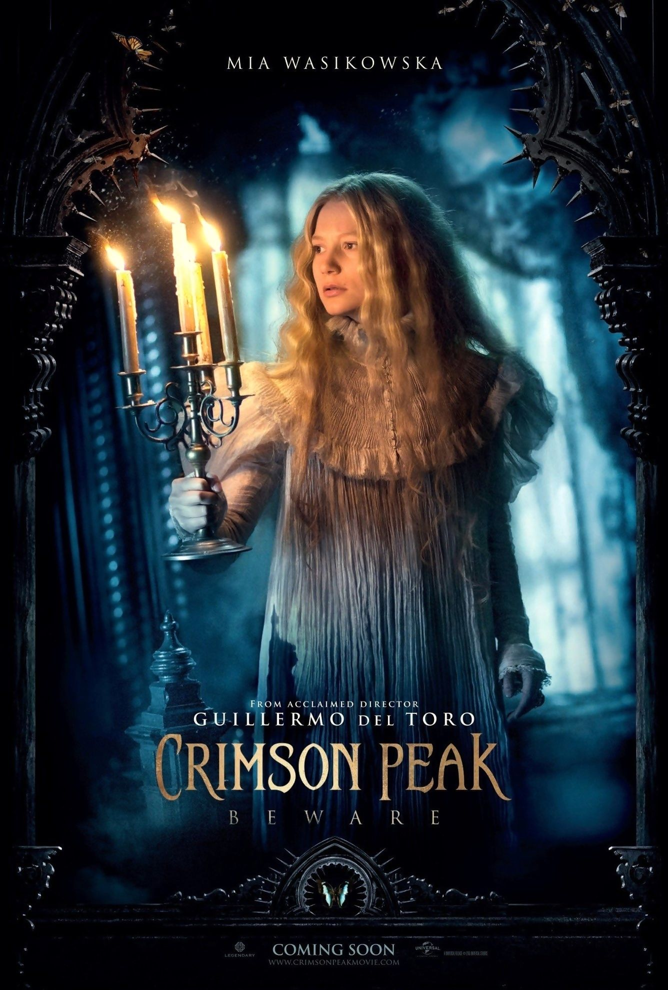 Crimson Peak Double Sided ORIGINAL MOVIE Film POSTER 1 Sheet Guillermo del Toro