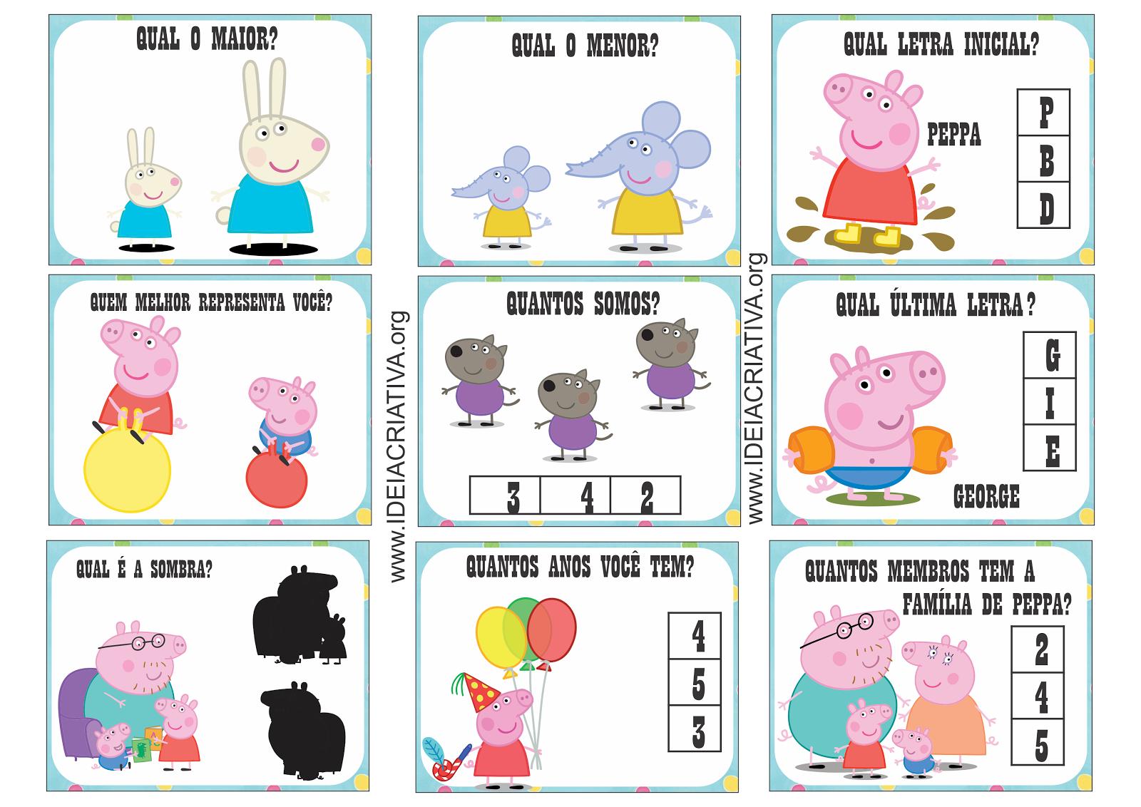 Cart Es Sondagem Peppa Pig Sala De Recursos Multifuncional Aee  -> Decoracao Para Sala De Aee