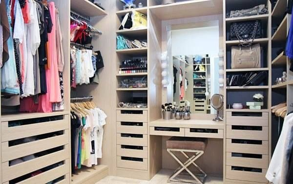 Amazing Closet With Vanity Inside