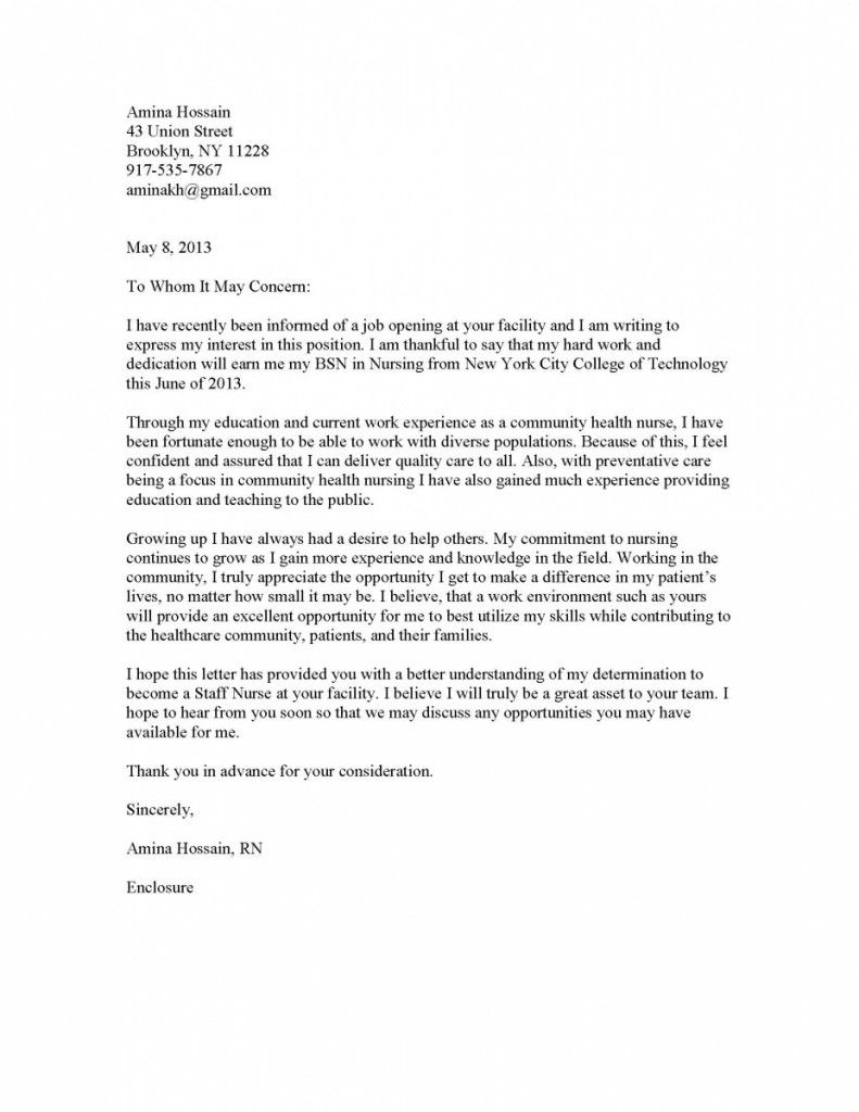 cover letter portfolio examples for nurses - Yahoo Image Search ...