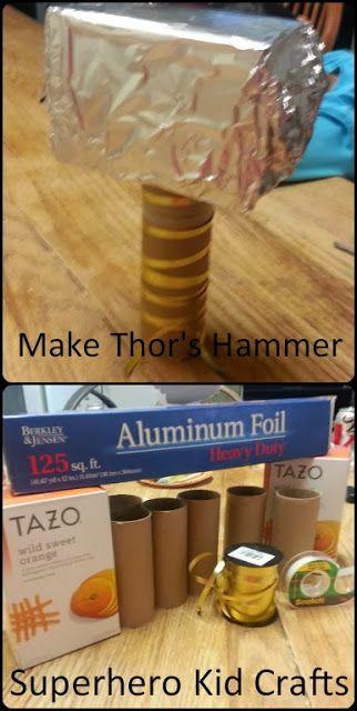 Mega Monkey Mash- Thor Week - Thor's Hammer - Easy Kid's Crafts #superherocrafts