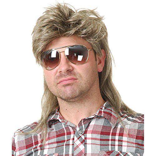 Adult Brown Mullet Joe Dirt Grunge Rocker Costume Wig