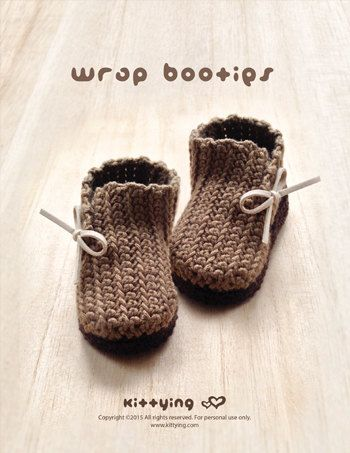 Crochet Pattern Baby Booties Crochet Pattern Wrap Baby Boots Crochet ...