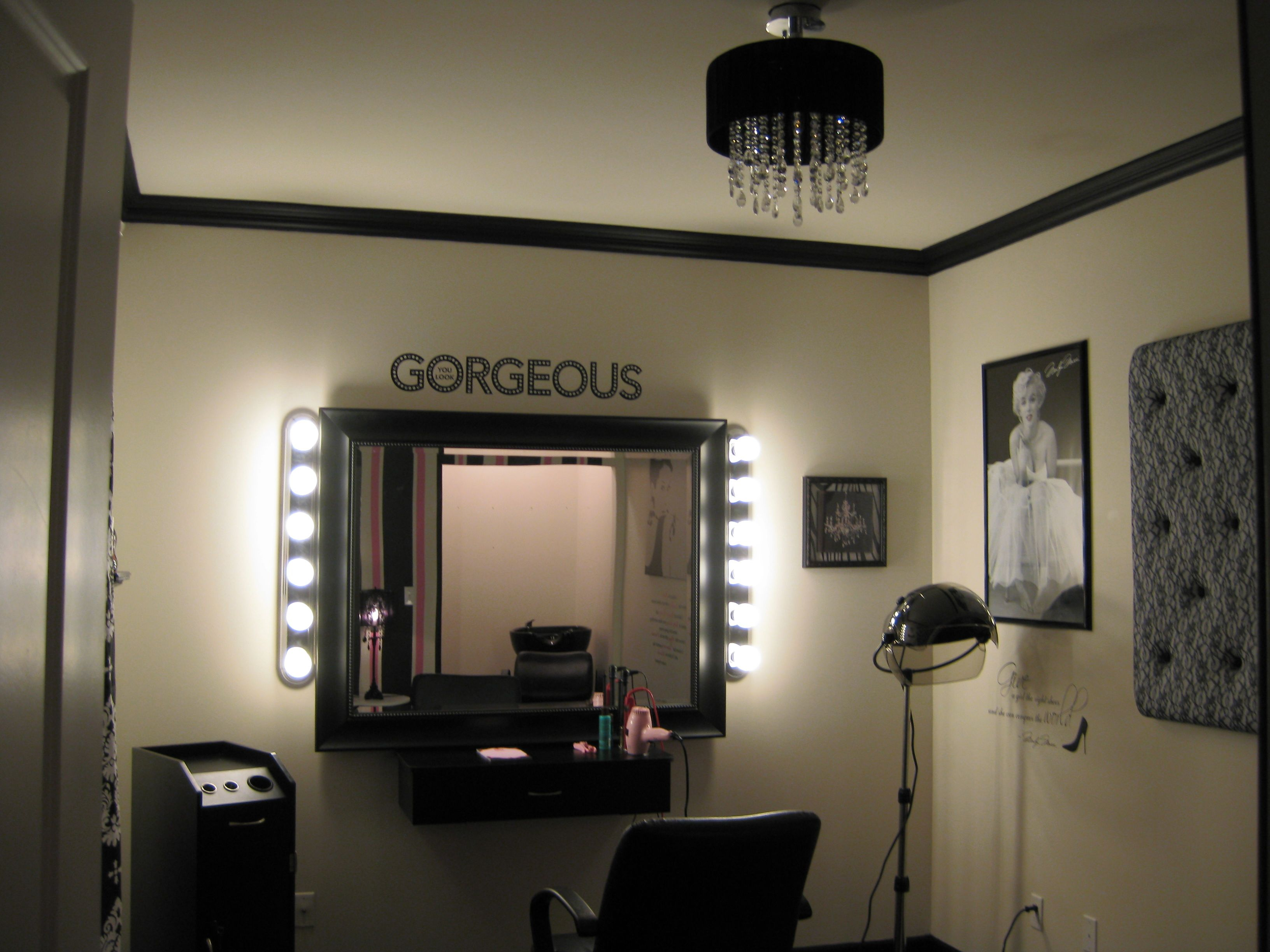 Home beauty salon design ideas