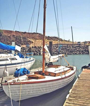 27' Nordic Folk Boat 1960's Wooden Boat | Sausalito san ...