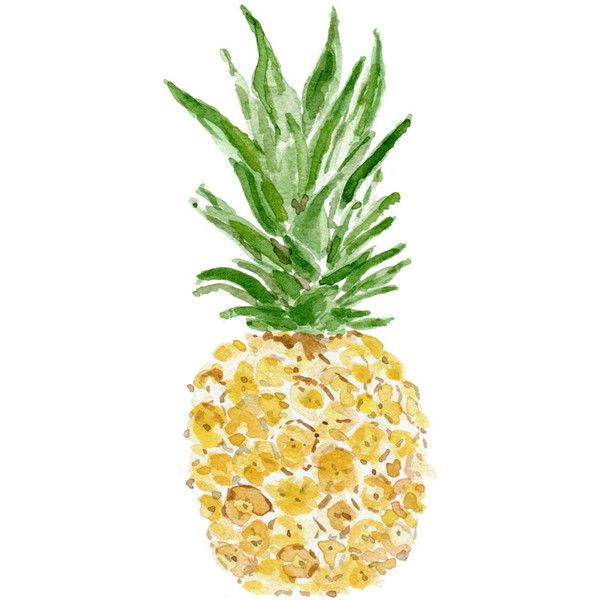Pineapple, original watercolor painting, tropical, Green Yellow, fruit art, Kitchen decor, kitchen art, tropic art, pineapple watercolor