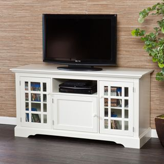 Trevorton Off-White TV/ Media Stand | Overstock.com Shopping - The ...