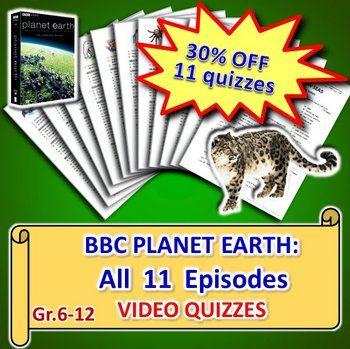 planet earth all 11 episodes video quizzes bundle editable planet earth series quizzes. Black Bedroom Furniture Sets. Home Design Ideas