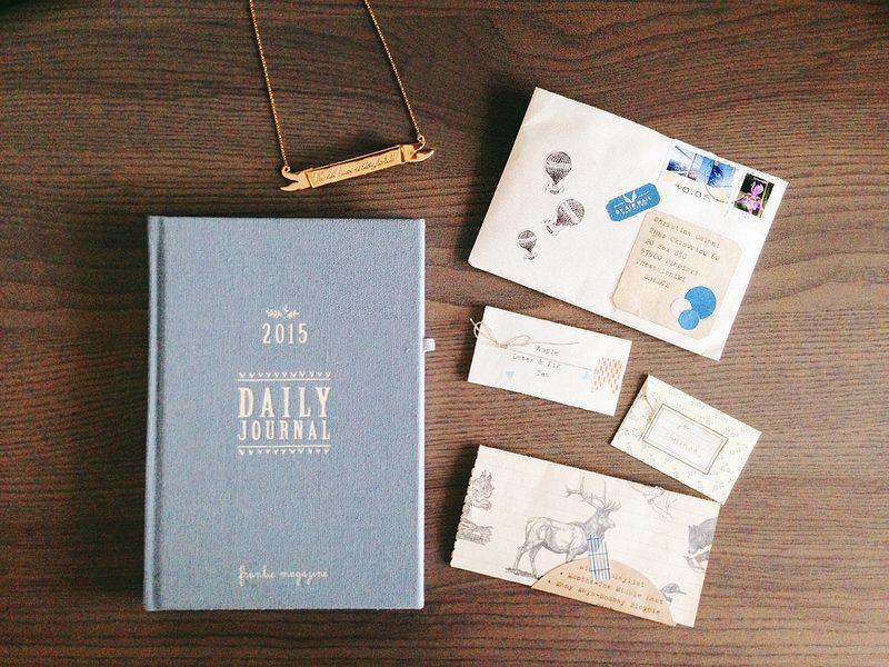 Frankie Journal, ribbon necklace & Tina's letter